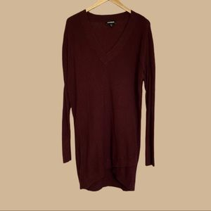 Express Sweater Dress with Crossover Bottom